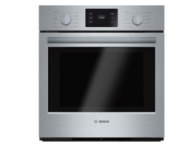 """27"""" Bosch 500 Series Single Wall Oven In Stainless Steel - HBN5451UC"""