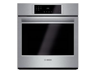 """27"""" Bosch 800 Series Single Wall Oven In Stainless Steel - HBN8451UC"""
