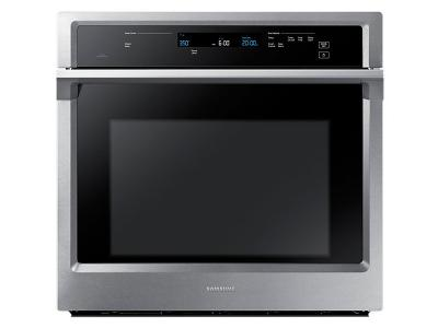 """30"""" Samsung 5.1 Cu. Ft. Convection Single Oven With Steam Bake - NV51K6650SS"""