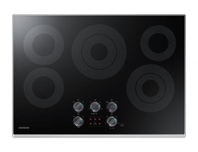 """34"""" Samsung Electric Cooktop With 3.3 kW Rapid Boil Burner - NZ30K6330RS"""