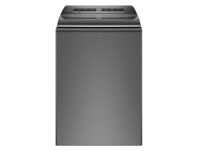 """27"""" Whirlpool 6.1 Cu. Ft. Smart Top Load Washer In Chrome Shadow - WTW7120HC"""