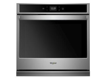 """30"""" Whirlpool 5.0 Cu. Ft. Smart Single Wall Oven With Touchscreen - WOS51EC0HS"""