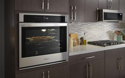 """30"""" Whirlpool 5.0 Cu. Ft. Single Wall Oven With the Fit System - WOS31ES0JS"""