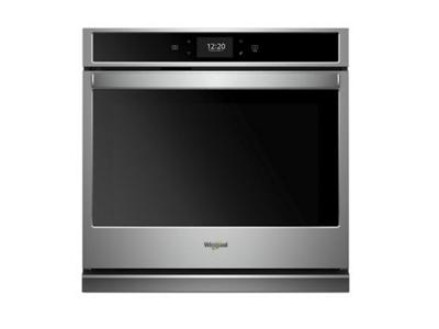 """30"""" Whirlpool 5.0 Cu. Ft. Smart Single Wall Oven With True Convection Cooking - WOS72EC0HS"""