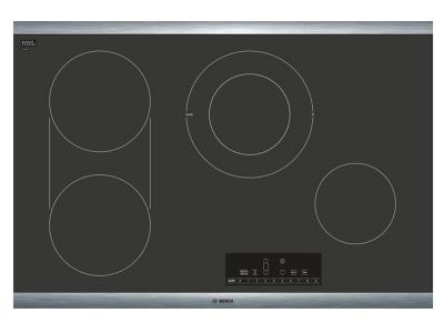 """31"""" Bosch 800 Series Electric Cooktop With Stainless Steel Frame - NET8068SUC"""