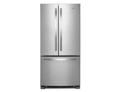 """33"""" Whirlpool 22 cu. ft. French Door Refrigerator with Accu-Chill system - WRF532SNHZ"""