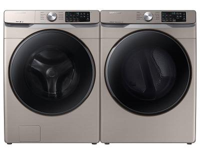 """27"""" Samsung Smart Front Load Washer And Electric Dryer Of 6100C Pair - WF45R6100AC-DVE45T6100C"""