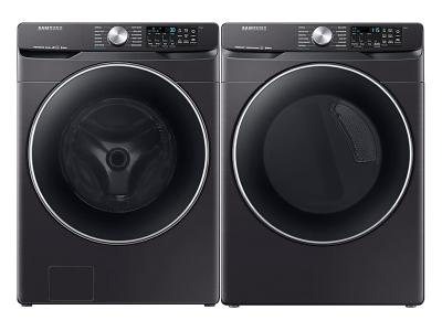 "27"" Samsung Smart Front Load Washer And Smart Electric Dryer Of 6300 Pair - WF45R6300AV-DVE45R6300V"