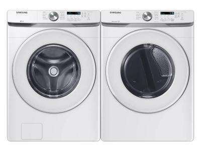 """27"""" Samsung 5.2 Cu.Ft. Front Load Washer And 7.5 cu.ft. Electric Dryer - WF45T6000AW-DVE45T6005W"""