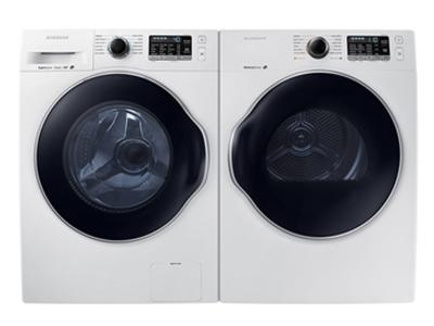 Samsung WW6800 Front loading Washer  And Samsung 4.0cu.ft. Electric Dryer with Sensor Dry function-WW22K6800AW-DV22K6800EW 6800 Pair