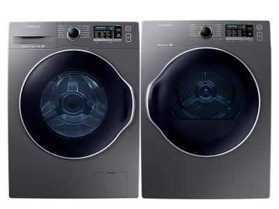 """24"""" Samsung Front Load Washer  and 4 cu.ft Electric Dryer - WW22K6800AX-DV22K6800EX 6800X Pair"""