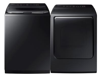 """27"""" Samsung Top Load Washer and Electric Dryer  - WA54M8750AV-DVE54M8750V 8700 Pair"""