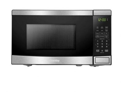 """17"""" Danby 0.7 Cu. Ft. Capacity 700 Watts Microwave With Stainless Steel Front - DBMW0721BBS"""
