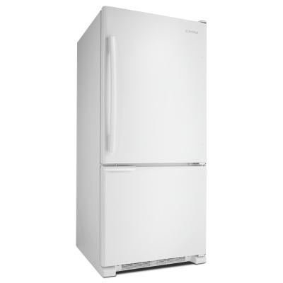 "30"" Amana 18.5 Cu. Ft. Bottom-Freezer Refrigerator with ENERGY STAR Qualification - ABB1921BRW"