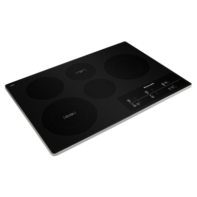 """30"""" KitchenAid Electric Cooktop With 5 Elements And Touch-Activated Controls In Stainless Steel - KCES950KSS"""