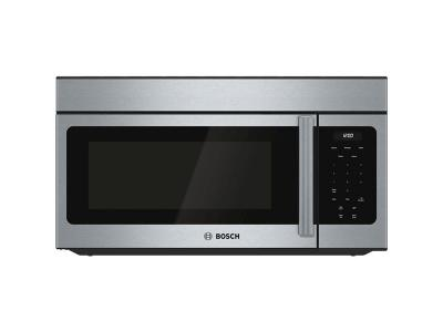 """30"""" Bosch 1.6 Cu. Ft. 300 Series Over-the-Range Microwave In Stainless Steel - HMV3053C"""