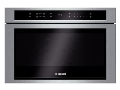 """24"""" Bosch 800 Series Drawer Microwave In Stainless Steel - HMD8451UC"""