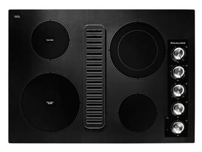 """30"""" Electric Downdraft Cooktop with 4 Elements - KCED600GBL"""