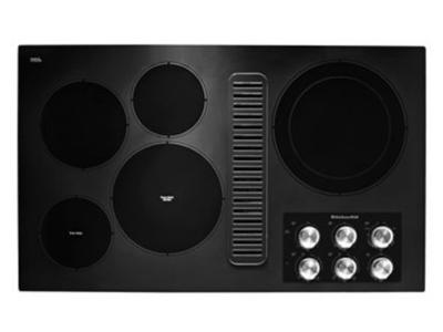 """36"""" KithenAid Electric Downdraft Cooktop with 5 Elements - KCED606GBL"""