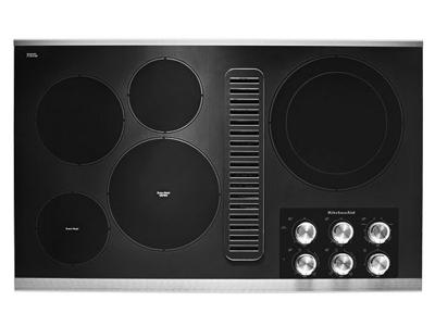 """36"""" KitchenAid Electric Downdraft Cooktop with 5 Elements - KCED606GSS"""