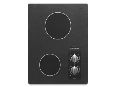 """15"""" KitchenAid Electric Cooktop with 2 Radiant Elements - KECC056RBL"""