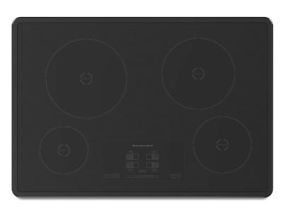 """30"""" KitchenAid Induction Cooktop with 4 Elements and Touch-Activated Controls - KICU500XBL"""