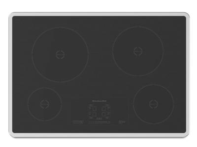 """30"""" KitchenAid Induction Cooktop with 4 Elements and Touch-Activated Controls - KICU500XSS"""