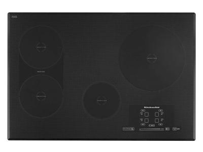 """30"""" KitchenAid Induction Cooktop with 4 Elements, Touch-Activated Controls and Power Slider - KICU509XBL"""