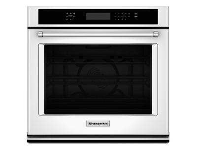 """27"""" KitchenAid 4.3 Cu. Ft. Single Wall Oven With Even-Heat True Convection - KOSE507EWH"""