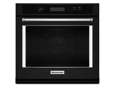 """27"""" KitchenAid 4.3 Cu. Ft. Single Wall Oven With Even-Heat True Convection - KOSE507EBL"""
