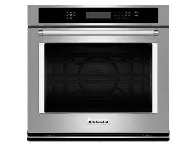 """30"""" KitchenAid 5.0 Cu. Ft. Single Wall Oven With Even-Heat True Convection - KOSE500ESS"""