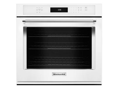 """30"""" KitchenAid 5.0 Cu. Ft. Single Wall Oven With Even-Heat True Convection - KOSE500EWH"""
