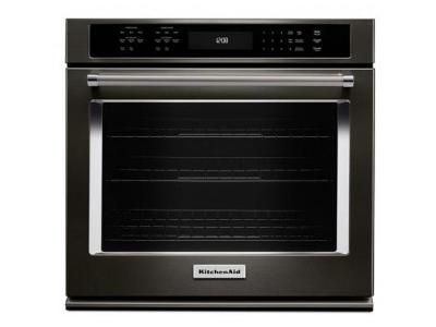 """30"""" KitchenAid 5.0 Cu. Ft. Single Wall Oven With Even-Heat True Convection - KOSE500EBS"""