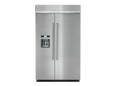 """48"""" KitchenAid 29.5 Cu. Ft. Built-In Side by Side Refrigerator - KBSD618ESS"""