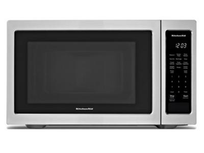 "22"" KitchenAid 1.6 Cu. Ft. Countertop Microwave Oven With 1100 Watt - YKMCS1016GS"