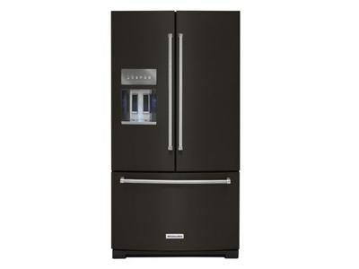 "36"" KitchenAid 26.8 Cu. Ft. Standard Depth French Door Refrigerator With Exterior Ice - KRFF507HBS"