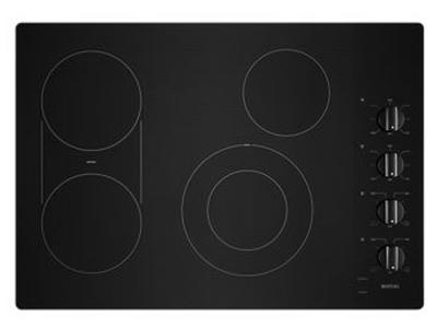 """30"""" Maytag Electric Cooktop With Reversible Grill And Griddle In Black - MEC8830HB"""