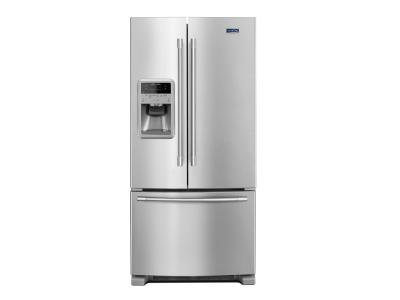 """33"""" Maytag 22 Cu. Ft. French Door Refrigerator With Beverage Chiller Compartment - MFI2269FRZ"""
