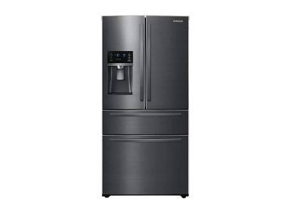 """33"""" Samsung French Door Refrigerator with Door Ice Dispenser - RF25HMIDBSG"""