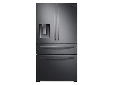 """36"""" Samsung 28 Cu. Ft. French Door With Twin Cooling Plus In Black Stainless Steel - RF28R7201SG"""