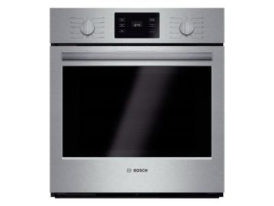 """27"""" Bosch 500 Series Single Wall Oven In Stainless Steel - HBN5651UC"""