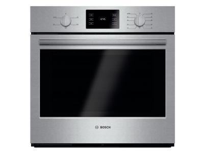 """30"""" Bosch 4.6 Cu. Ft. 500 Series Single Wall Oven In Stainless Steel - HBL5351UC"""