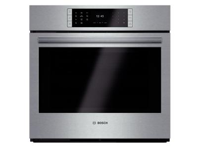 """30"""" Bosch 4.6 Cu. Ft. Benchmark Series Single Wall Oven In Stainless Steel - HBLP451UC"""